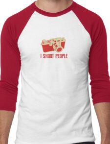 I Shoot People Camera T Shirt Men's Baseball ¾ T-Shirt