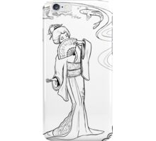 Japanese lady sketch iPhone Case/Skin