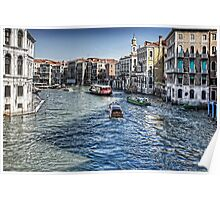 North from the Rialto Bridge Poster