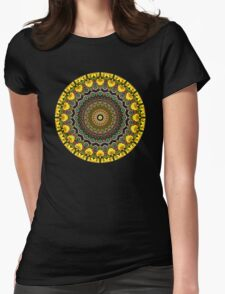 Flower Kaleidoscope III Womens Fitted T-Shirt