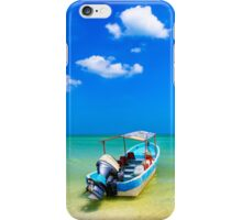 Unknown Horizons - Little Boat in the Gulf of Mexico iPhone Case/Skin
