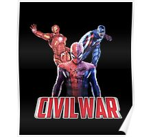 MARVEL Civil War with Spiderman Poster