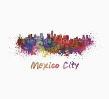 Mexico City skyline in watercolor T-Shirt