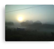 Junkyard Fog  Canvas Print