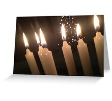 Candles and Christmans Trees Greeting Card