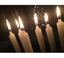 Candles and Christmans Trees Photographic Print