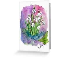 """Little snowdrops"" Greeting Card"