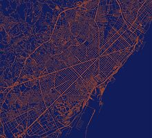 Barcelona Streets Map by cartoposters