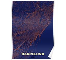 Barcelona Streets Map Poster