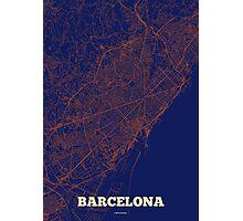 Barcelona Streets Map Photographic Print