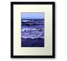 Lake Michigan Crashing Waves Framed Print