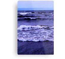 Lake Michigan Crashing Waves Metal Print