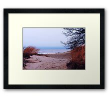 Lake Michigan Dunes Framed Print