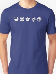 White mario items (with shadow) Unisex T-Shirt