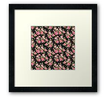 Shabby Chic Pink And White Roses Framed Print