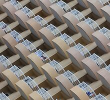 Symmetrical hotel balconies by leightoncollins