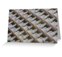 Symmetrical hotel balconies Greeting Card