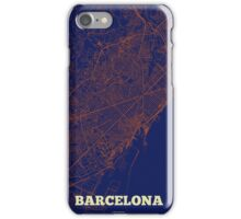 Barcelona Streets Map iPhone Case/Skin