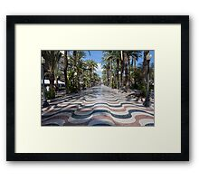 Alicante wavy pavement Framed Print