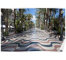 Alicante wavy pavement Poster
