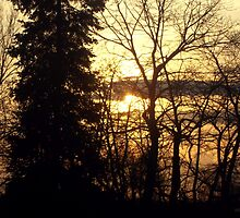 Quebec Canada Beautiful Sunset  by M Sylvia Chaume