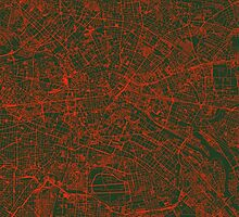 Berlin Streets Map by cartoposters
