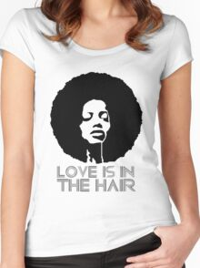 Love is in the hair Women's Fitted Scoop T-Shirt