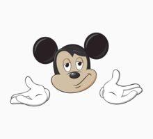 Mickey Mouse Shrug shrugging emoticon ¯\_(ツ)_/¯ emoji by crunchyparadise