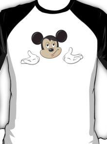 Mickey Mouse Shrug shrugging emoticon ¯\_(ツ)_/¯ emoji T-Shirt