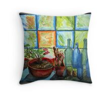Blue and Green SHOULD be seen! Throw Pillow