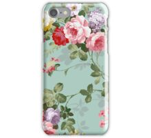 Vintage Elegant Pink Red Roses Pattern iPhone Case/Skin