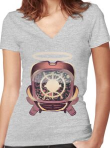 Retro 90s canti Women's Fitted V-Neck T-Shirt