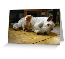 Young Pugalier Greeting Card