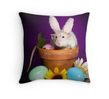 Easter bunny Huxley Throw Pillow