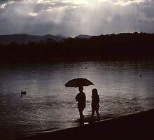 Two little girls... Tuross Lake by JennyMac