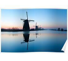 Iconic Windmills of Kinderdijk, The Netherlands Poster