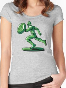 CAPTAIN: THE PLASTIC SOLDIER Women's Fitted Scoop T-Shirt