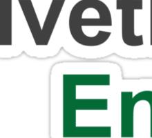 Helvetica Envy Sticker