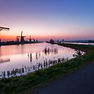 Iconic Windmills of Kinderdijk, The Netherlands by Yen Baet