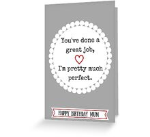 Modest Message for Mum Greeting Card