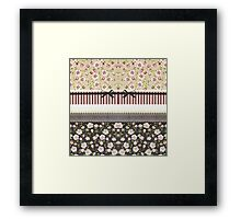 Elegant Girly White Lace And Pink Roses Framed Print