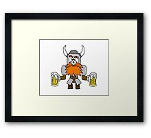 Funny Viking with Fly on Nose Framed Print