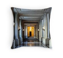 Just Down The Hall Throw Pillow