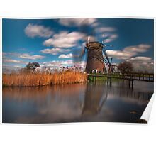 Iconic Windmills of Kinderdijk, The Netherlands Poster