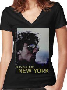 I LOVE NEW YORK Women's Fitted V-Neck T-Shirt