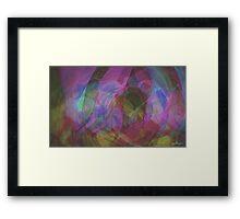 CIRCULAR WAVES Framed Print