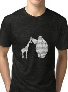 Giraffe and love Tri-blend T-Shirt