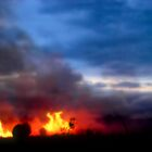 Outback Bushfire by Victor James