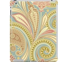 Hipster Girly Paisley Pink Green Floral Pattern iPad Case/Skin