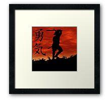 Samurai Courage Framed Print